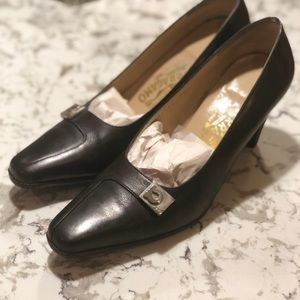 Salvatore Ferragamo black heels in size 7.5